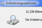 Windows: Indizierungsoptionen
